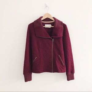 Anthropologie Saturday Sunday Quilted Jacket Red